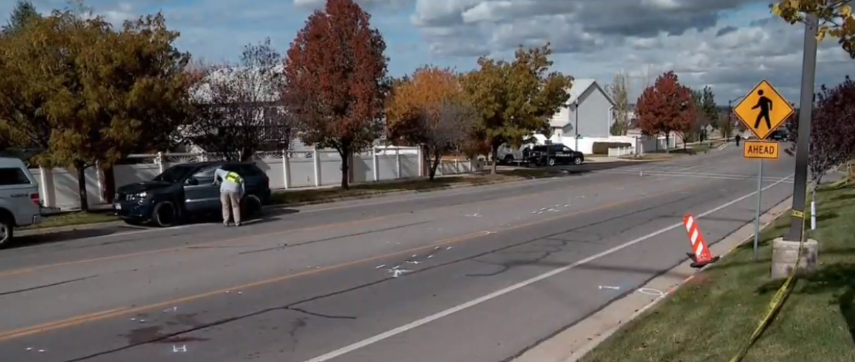 As Draper Police continue to investigate a crash that killed a woman who was crossing Lone Peak Parkway, some neighbors are concerned about the stretch of road which runs near a school. (Photo: KUTV)