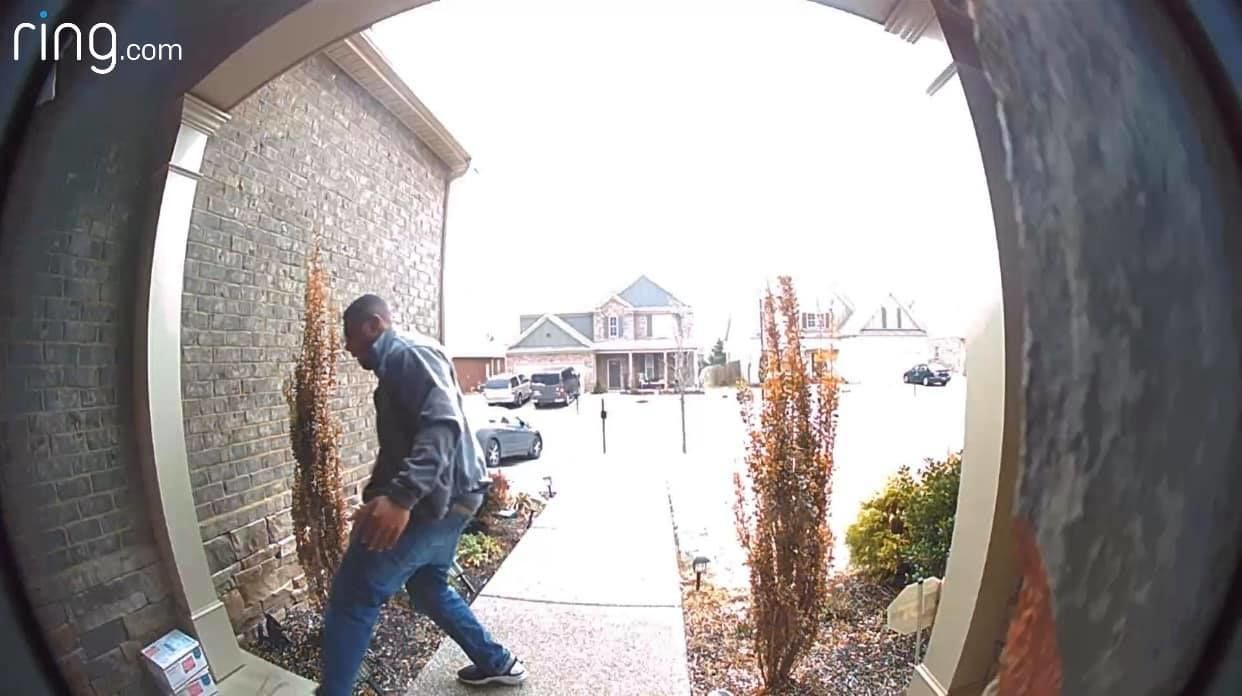 Porch pirate steals package from Woodmont Subdivision in Smyrna (submitted photo)