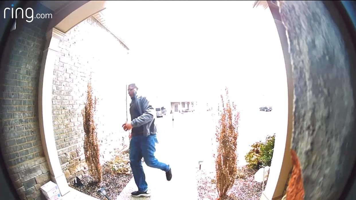 Porch pirate steals package from  Woodmont Subdivision in Smyrna (submitted photo)<br>