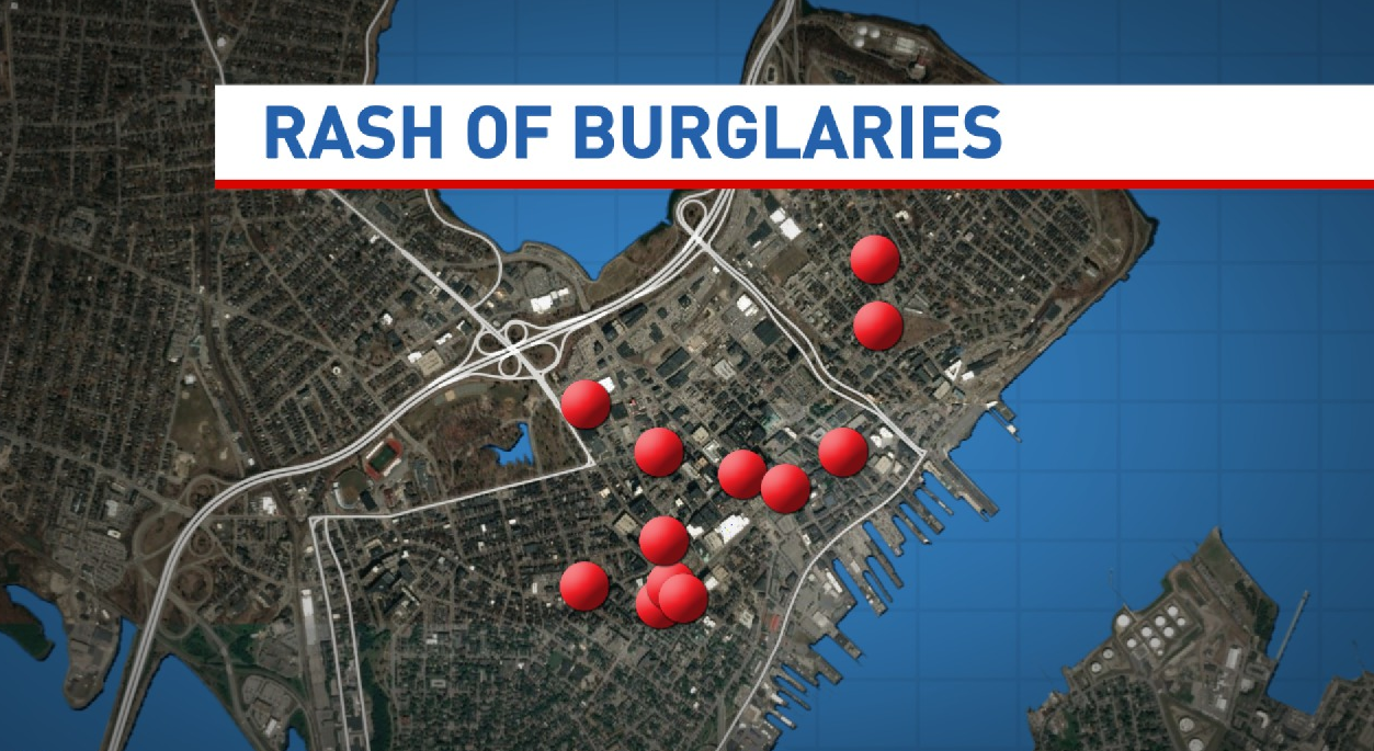 Total number of burglaries between July 28 and August 19 in Portland.<p></p>