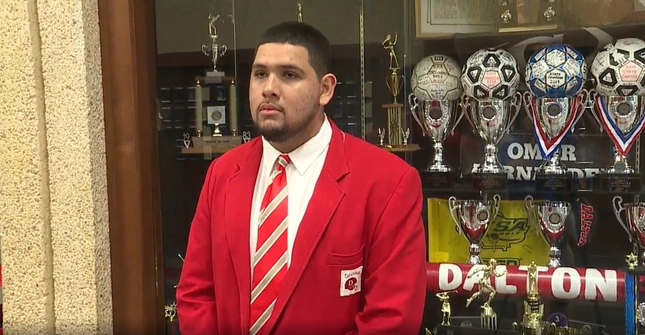 This has led to a full-ride scholarship for Beltran to play college football at Tennessee Tech University, after he graduates high school next year. (Image: WTVC)