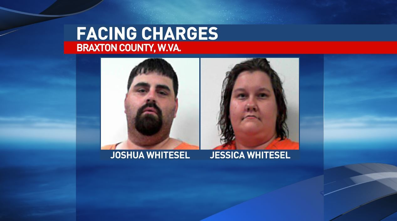 Joshua Whitesel and Jessica Whitesel are two of five facing charges in Braxton County. (West Virginia Regional Jail)