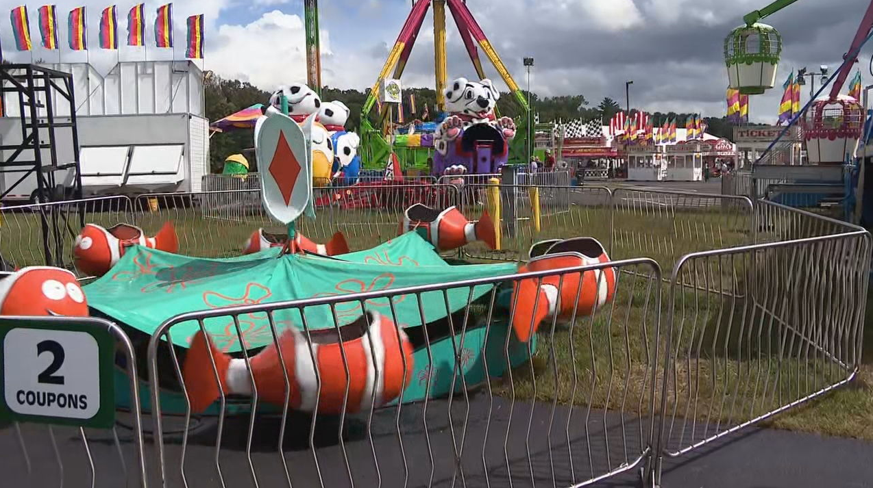 Fairs across North Carolina are taking precautions after a Legionnaires' scare at the Mountain State Fair. (Photo credit: WLOS staff)