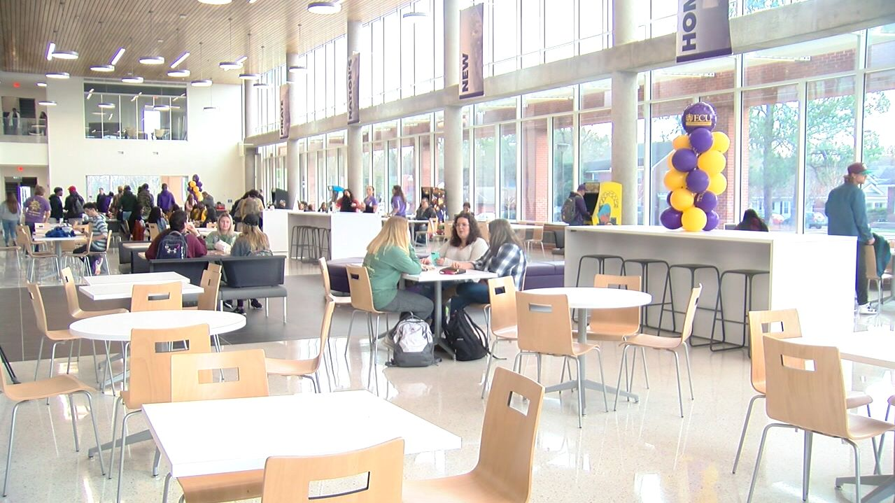 Ecu Officially Opens Main Campus Student Center Wcti