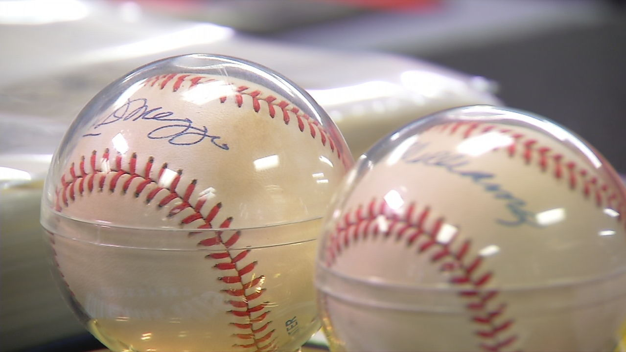 These baseballs autographed by Joe DiMaggio and Ted Williams were not deemed authentic and have little to no value. (SBG photo)