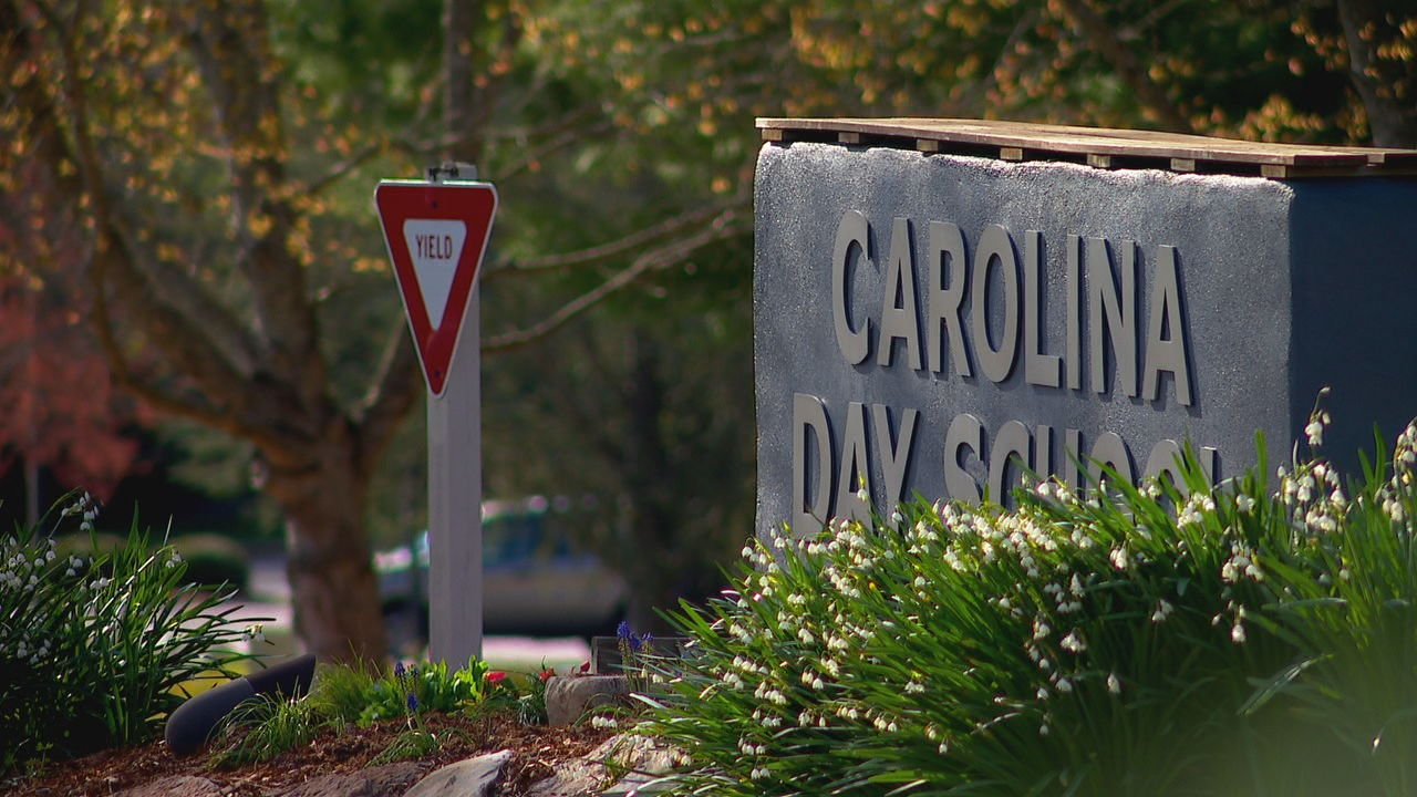 Biltmore Forest Police Chief Chris Beddingfield said a driver approached a student at Carolina Day School on Monday, asking her to get in the car. (Photo credit: WLOS staff)