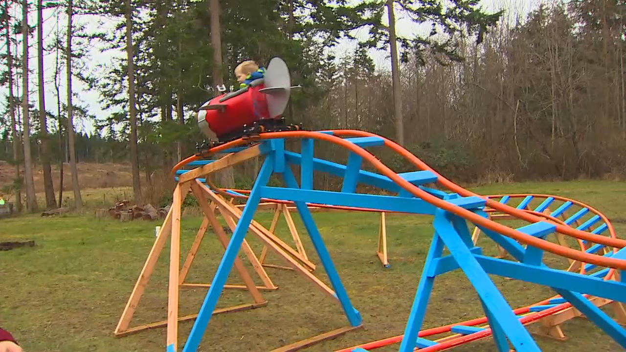 How cool is this? Navy pilot builds roller coaster in ...
