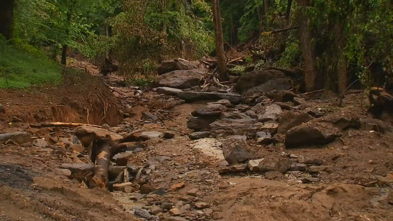 Polk County officials said Monday morning about 100 households have voluntarily evacuated their homes because of the increased threat of flooding in the area. (Photo credit: WLOS staff)