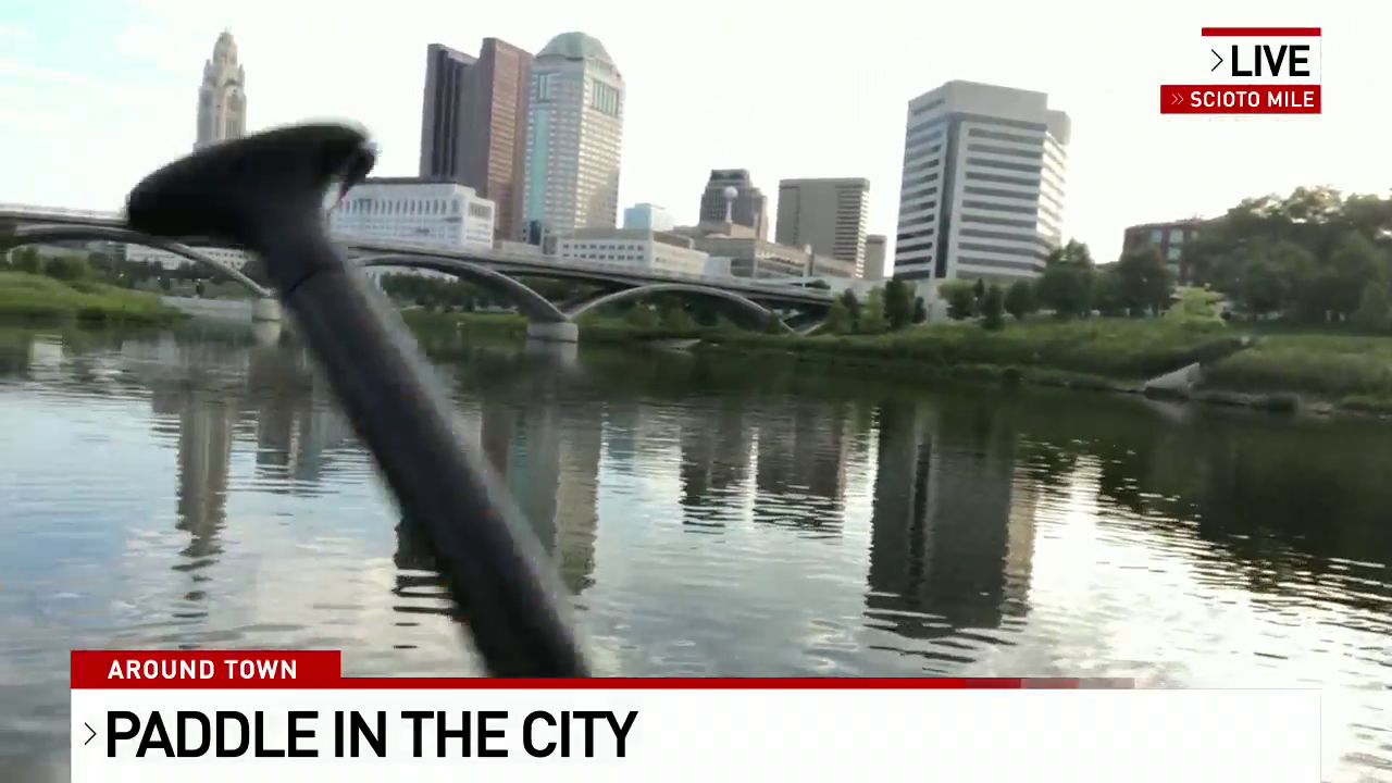 Feature reporter Cameron Fontana at Paddle In the City Sept. 11, 2019. (WSYX/WTTE)