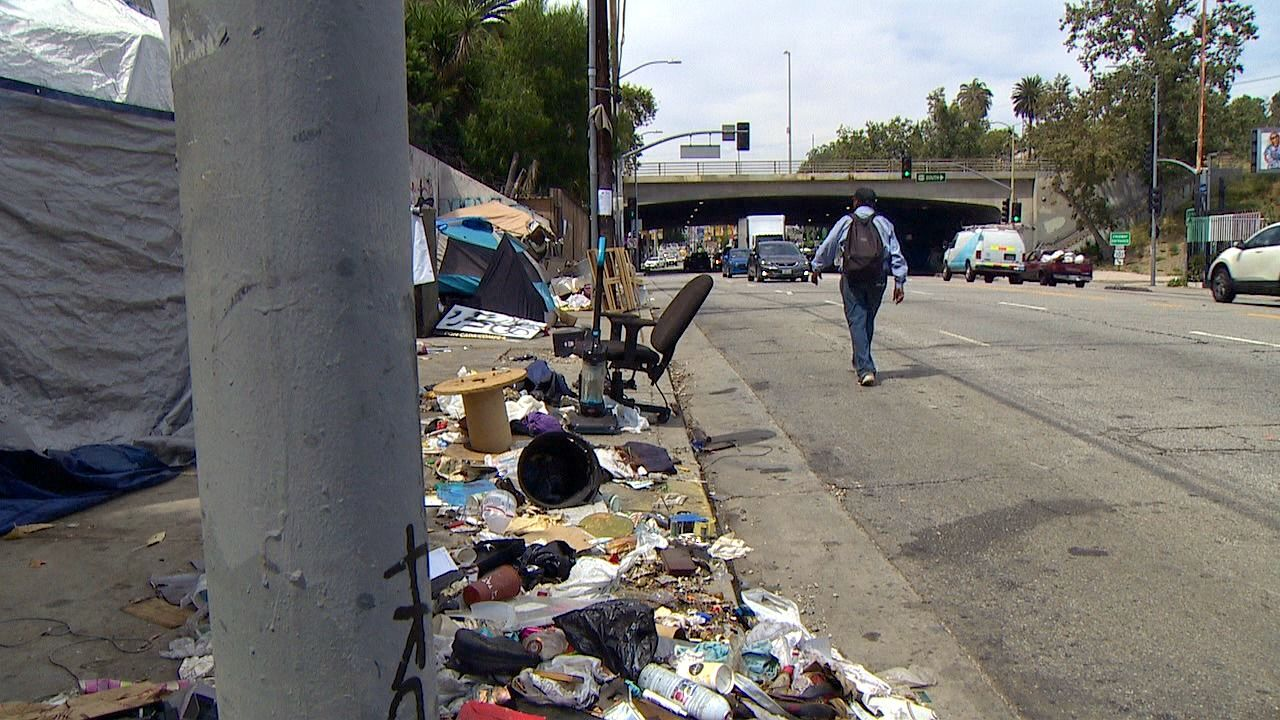 Skid Row in Los Angeles, California. June 2019 (KOMO News){ }