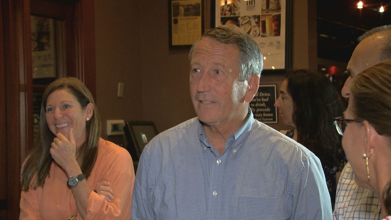 Mark Sanford at his campaign watch party, Liberty Tap Room, Mount Pleasant, June 12, 2018 (WCIV)