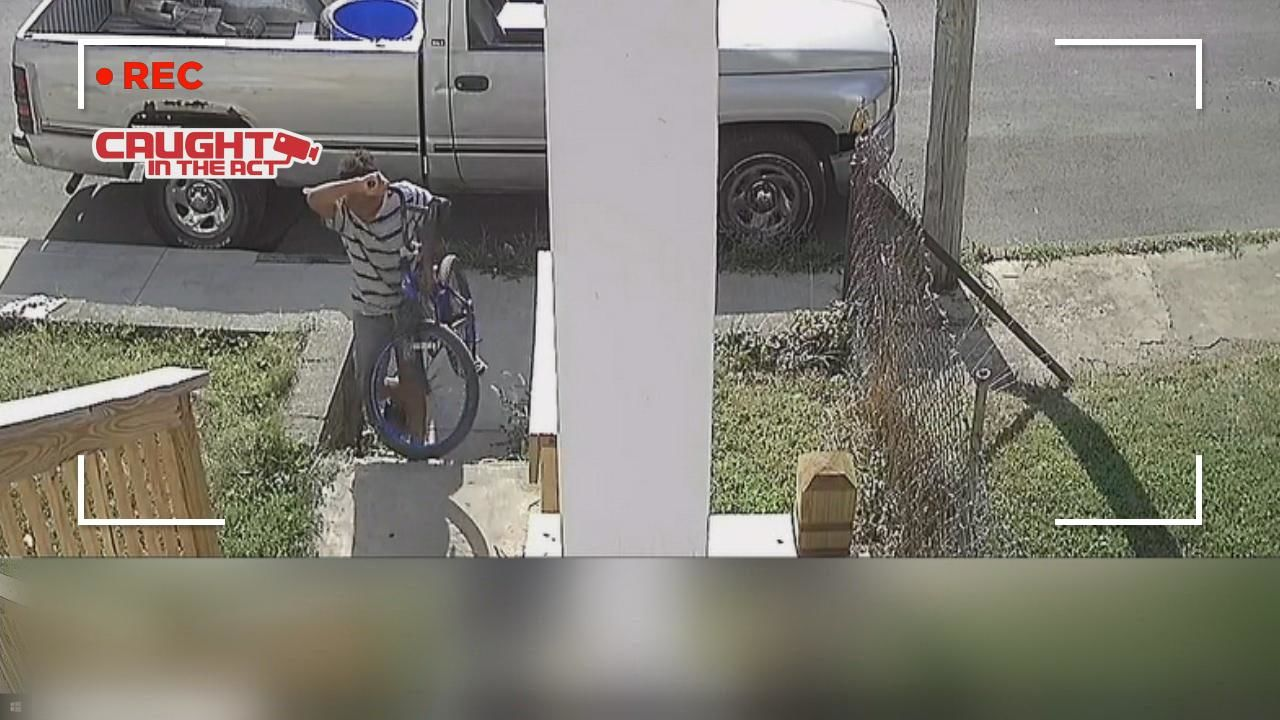 <p>A Columbus fifth-grader is begging an alleged crook to return his stolen bicycle. (Courtesy: Neighbor's surveillance camera){&nbsp;}<br></p>
