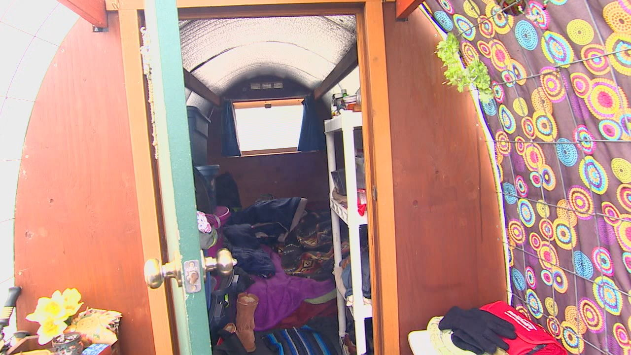 Conestoga Huts for the homeless (KOMO Photo)<p></p>