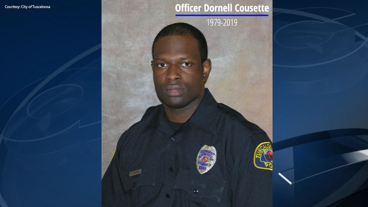 Officer Cousette was shot and killed Monday night in Tuscaloosa. (City of Tuscaloosa)