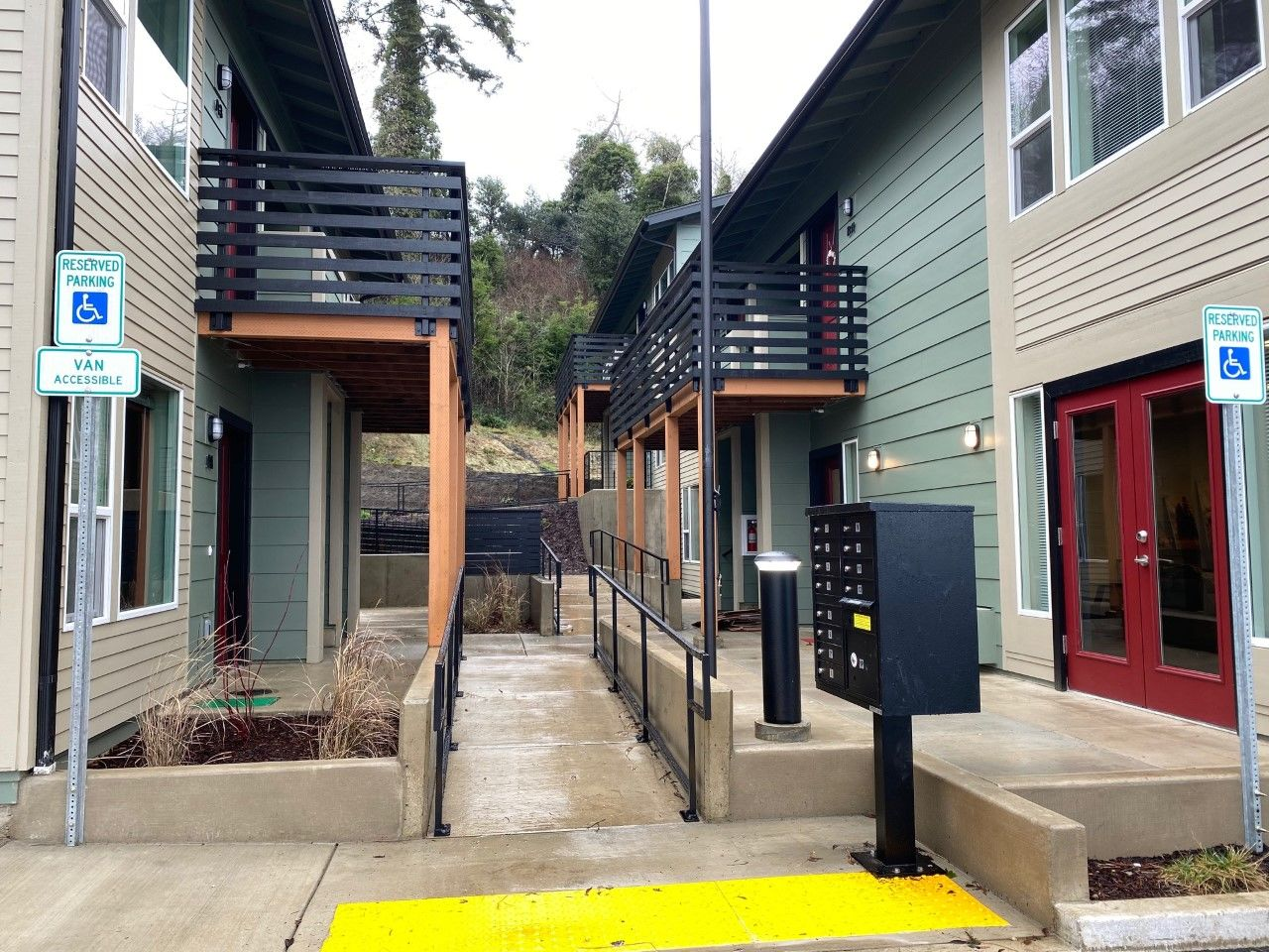 Oregon Coast Community Action has built Deer Springs Terrace to help at-risk homeless veterans get back on their feet, Jan. 23, 2020. (SBG)