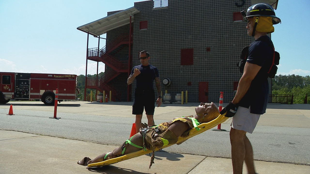 Before firefighters go on full duty, they face an extreme test, called the Physical Agility Test. (Photo credit: WLOS staff)