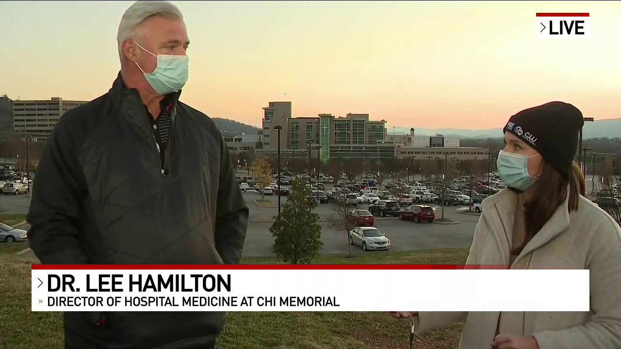 NewsChannel 9's Stephanie LaChance spoke with{ }Dr. Lee Hamilton, CHI Memorial's Director of Hospital Medicine to hear what it was like to be among some of the first in Hamilton County to receive the COVID-19 vaccine. (Image: WTVC)