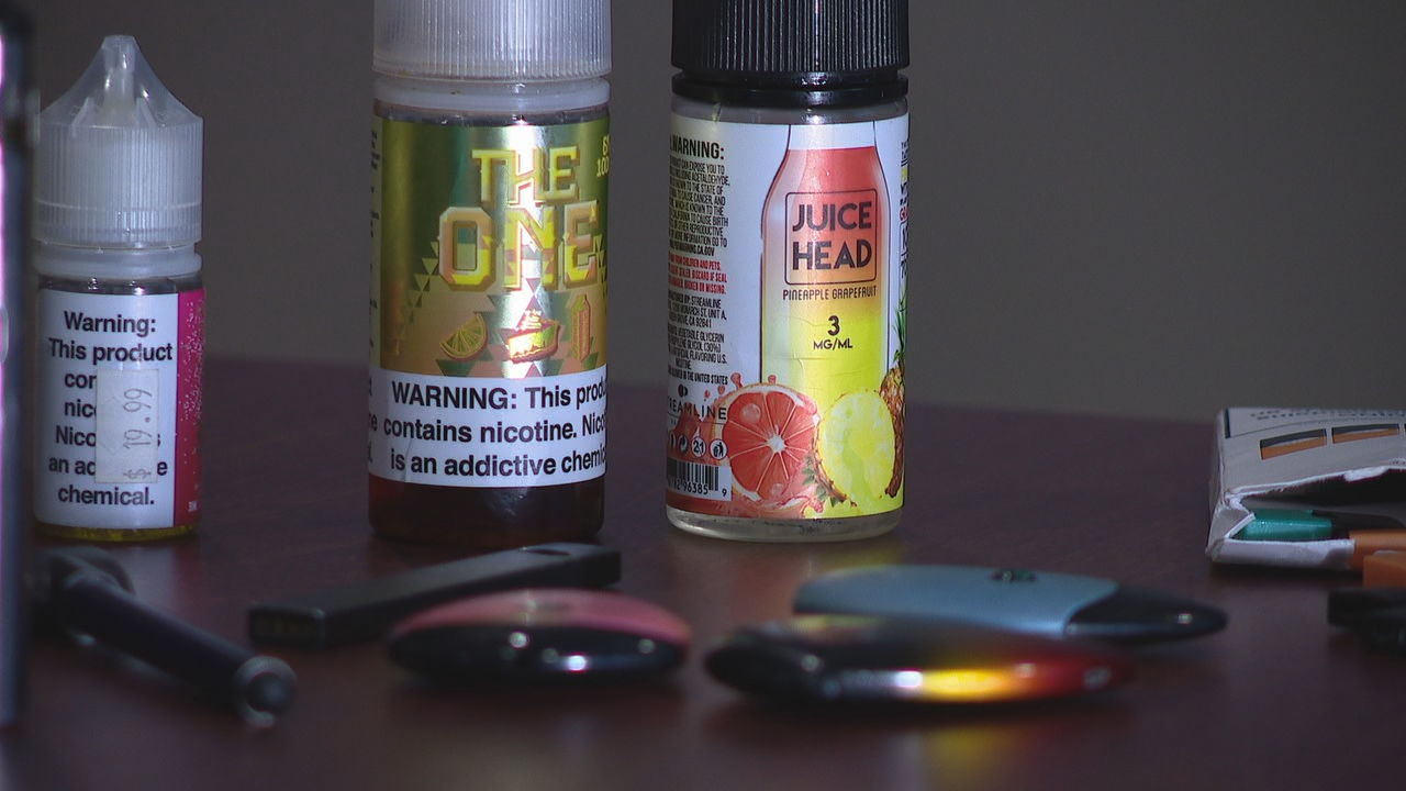 The first cases of what's being called vaping-associated illness have been confirmed in Buncombe County. (Photo credit: WLOS staff)