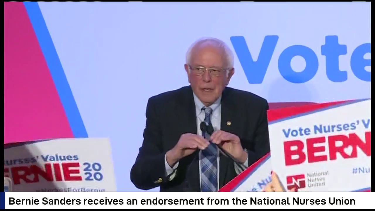 Bernie Sanders receives endorsement from National Nurses Union (CNN Newsource)
