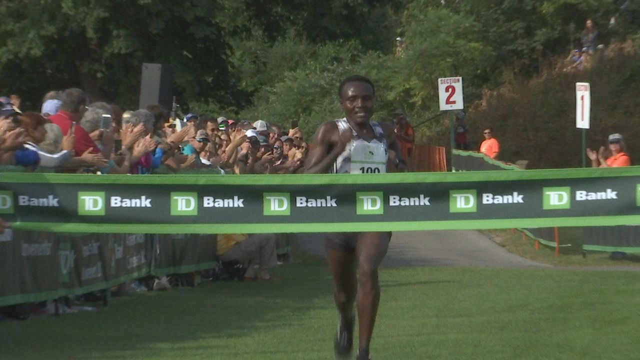 Kenya's Joyciline Jepkosgei took the women's crown, finishing in 31:05 during the 22nd running of the TD Beach to Beacon 10K (WGME)