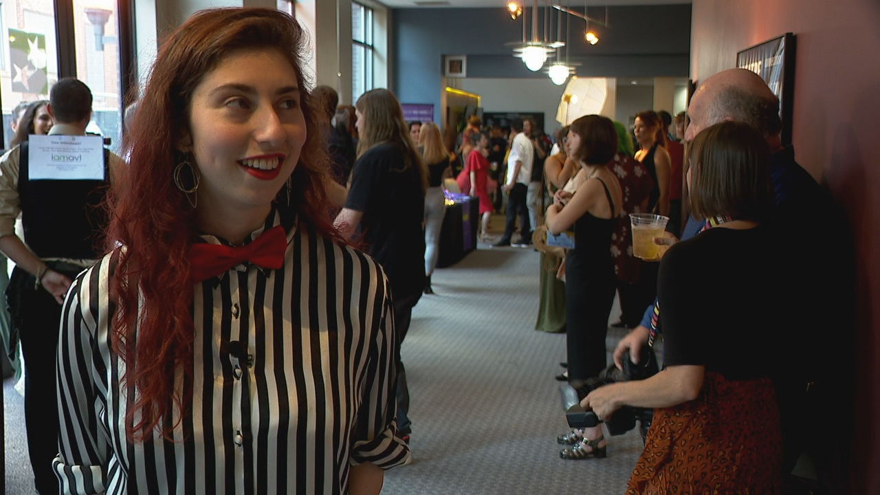 The 12th annual Music Video Asheville had a curated selection of 90 minutes of music videos, all done by local musicians and filmmakers, showcased on the big screen at Diana Wortham Theatre on Wednesday night. (Photo credit: WLOS staff)