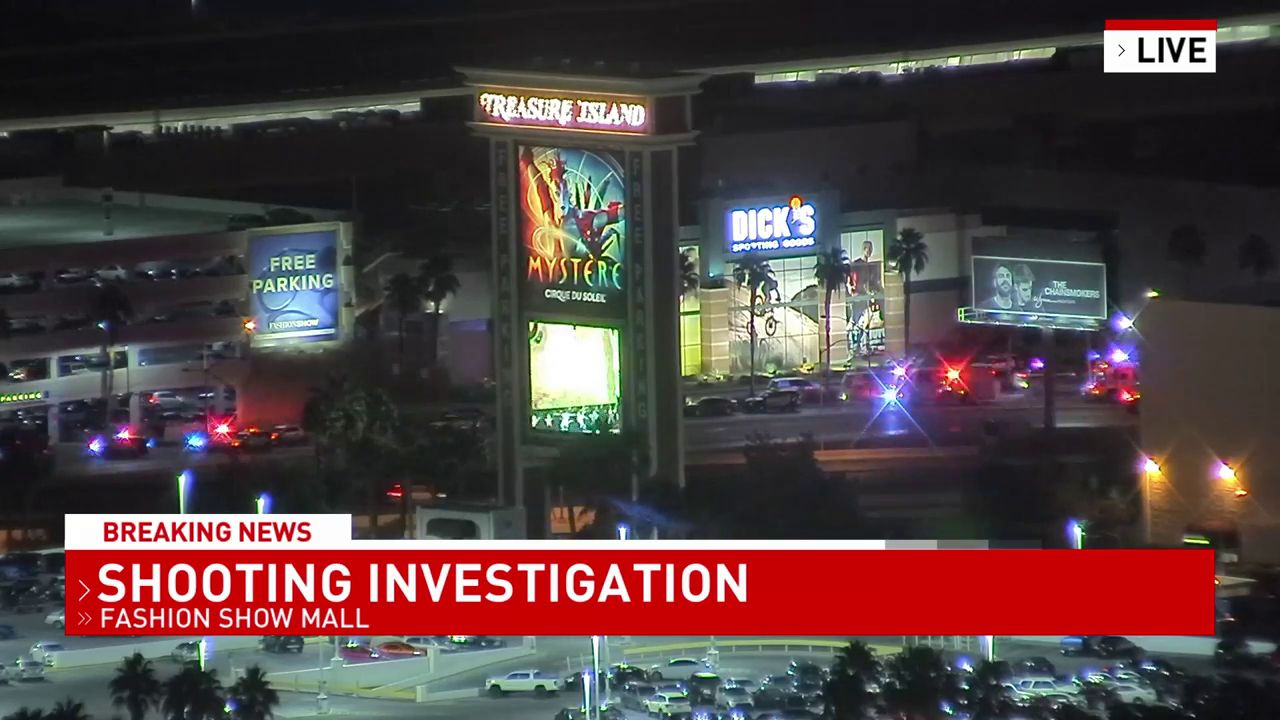Police responded to a shooting at Fashion Show Mall Tuesday night. (KSNV)