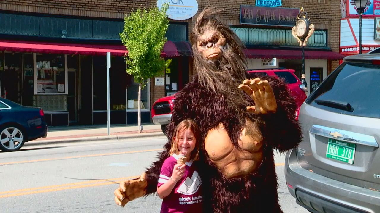 About 50,000 people are expected to attend the second annual WNC Bigfoot Festival on Saturday in downtown Marion. (Photo credit: WLOS staff)