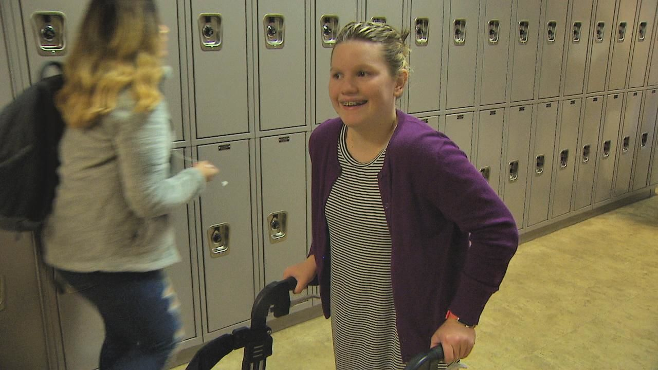 Eric's Heroes: Inspiring teen doesn't let her disability stop her from competing{ } (KOMO News)