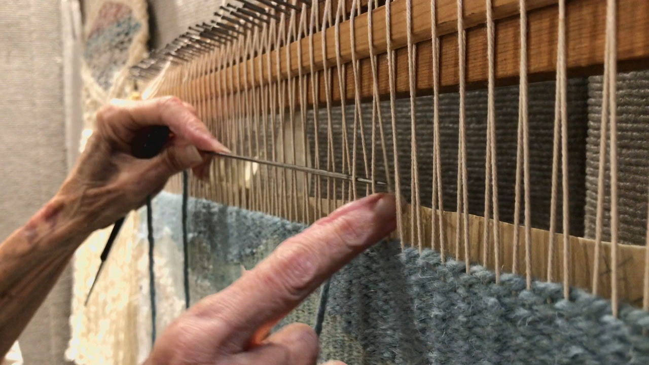 Sandy Adair, a tapestry weaver from Brevard, brings her art to life one thread at a time.{ } (Photo credit: WLOS staff)