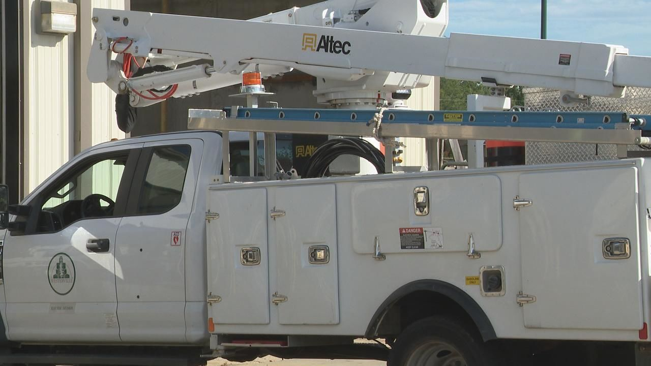 Crews from Westerville Electric are in Georgia, standing by and ready to help after Hurricane Dorian moves through the southeast (WSYX/WTTE)