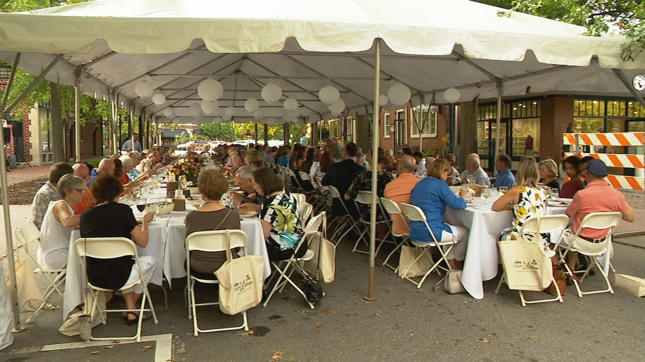 Each year, for the Farm to Village – Dining Under the Stars event, organizers pick an organization to help. This year, proceeds will go to MANNA FoodBank. (Photo credit: WLOS staff)