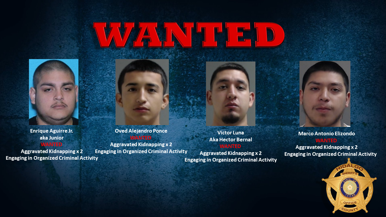 Photos of wanted suspects (Source: Hidalgo County Sheriff's Office)