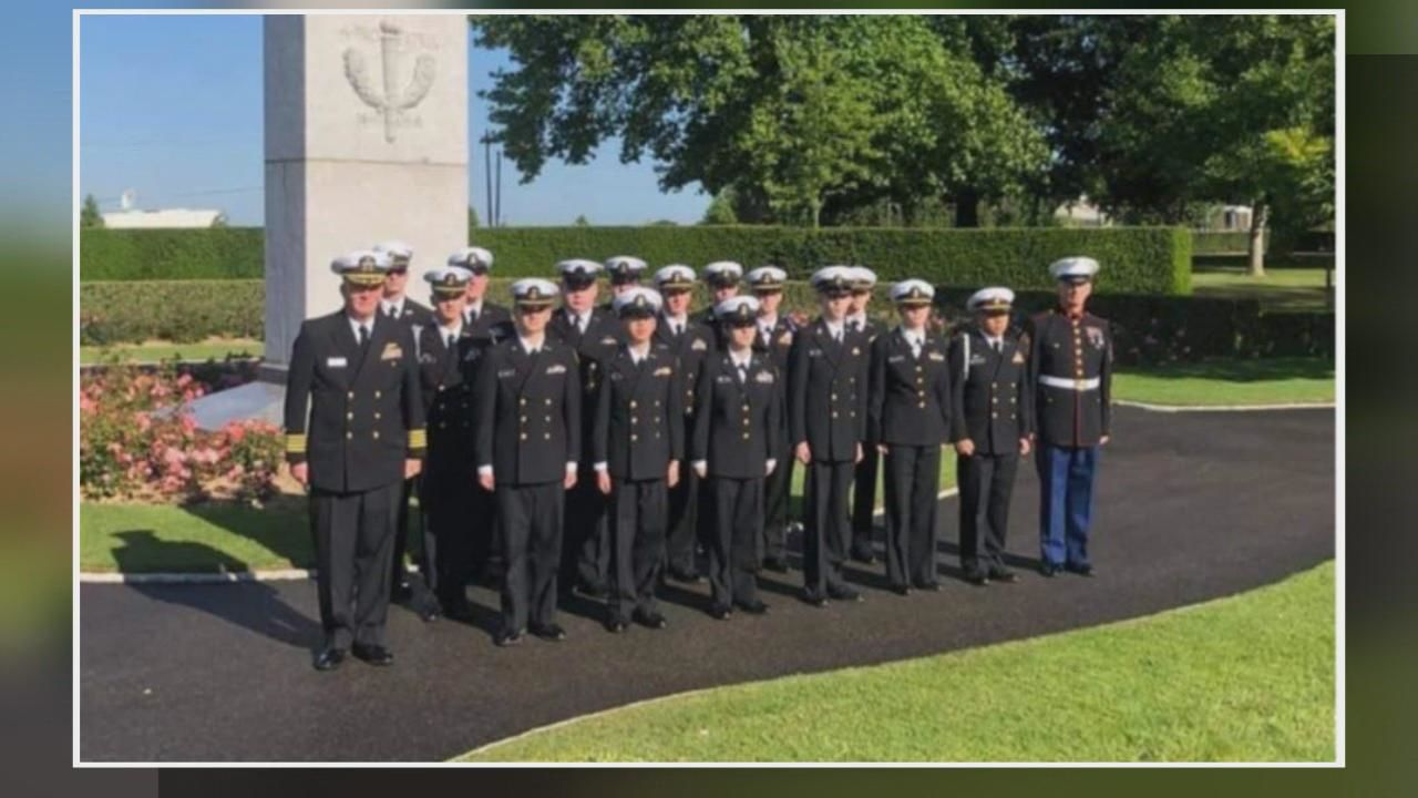 NJROTC Cadets from Central Crossing High School were invited to take part in the ceremonies for the 75th anniversary of D-Day in Normandy, France (Courtesy: Central Crossing NJROTC)