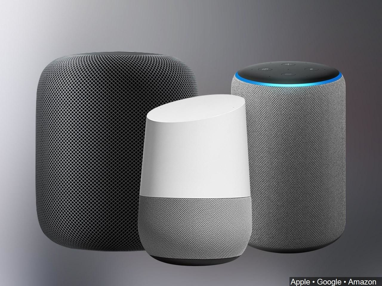 Amazon, Apple, Facebook, Google and Microsoft have been caught using human beings to listen in on users' voice commands. The companies say their efforts were aimed at training their artificial intelligence systems and improving the accuracy of voice recognition. (Image: Amazon, Google, Apple via MGN)