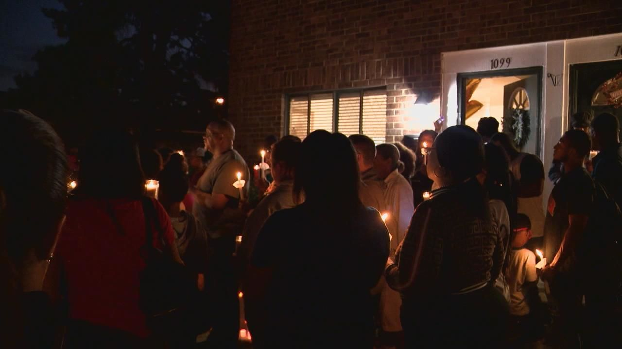 Family and members of the community held a vigil Thursday night after Lizzy Rutland was hit and killed while walking to a school bus stop Wednesday morning (WSYX/WTTE)