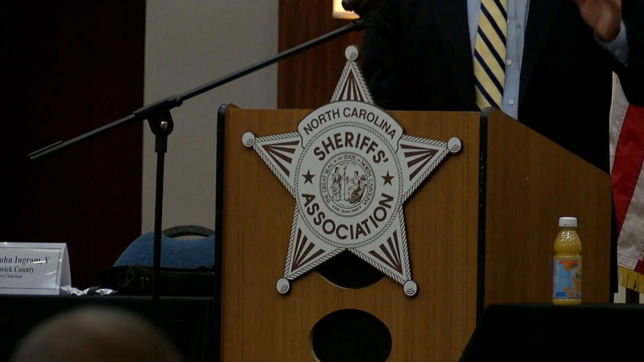 Sheriff Asa Buck hosted a conference for sheriffs and deputies held in Atlantic Beach. The NC sheriff's association conference Carteret County (Photo: Sharon Danquah, WCTI)