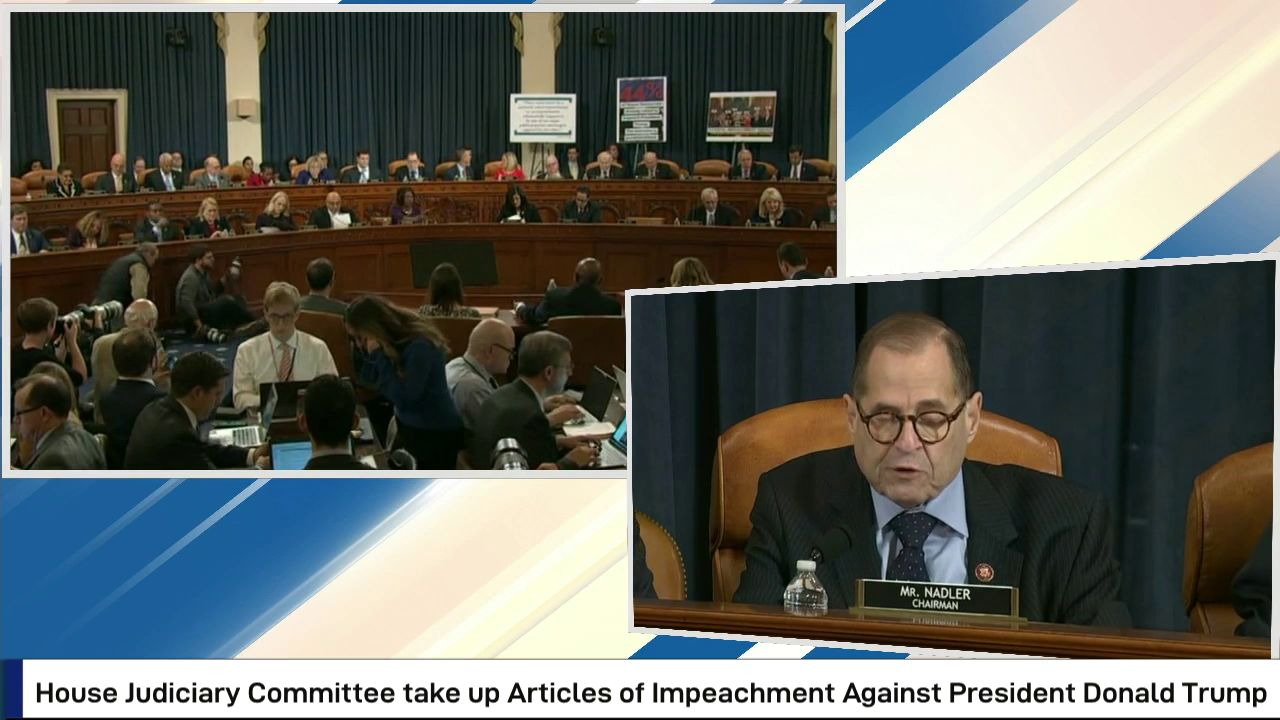 House Judiciary Committee taeks up Articles of Impeachement against President Donald Trump