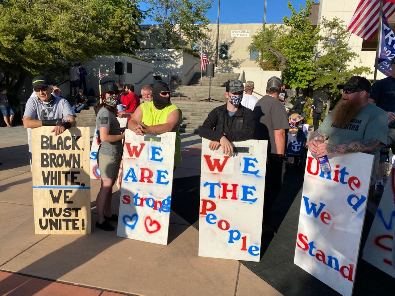 Counter-protesters show up to 'All Live Matter' rally in Springfield (Photo by Dan Morrison)