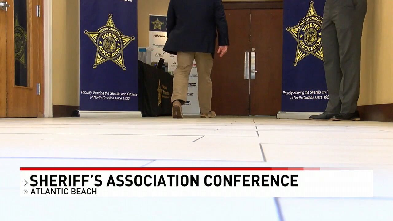 Sheriff Asa Buck hosted a conference for sheriffs and deputies held in Atlantic Beach. The NC sheriff's association conference Carteret County (Photo: Sharon Danquah, WCTI){&nbsp;}<p></p>