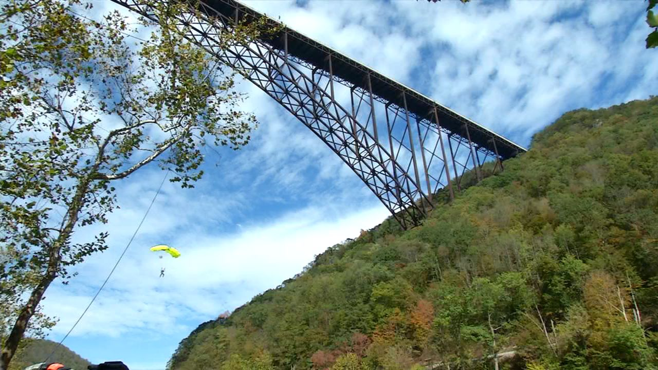 Hundreds of daredevils plunged more than 870ft into the gorge. (WCHS/WVAH){ }