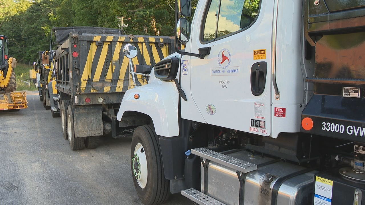 As Hurricane Dorian approaches the North Carolina coast, DOT and Duke Energy crews in the mountains are preparing to help. (Photo credit: WLOS staff)