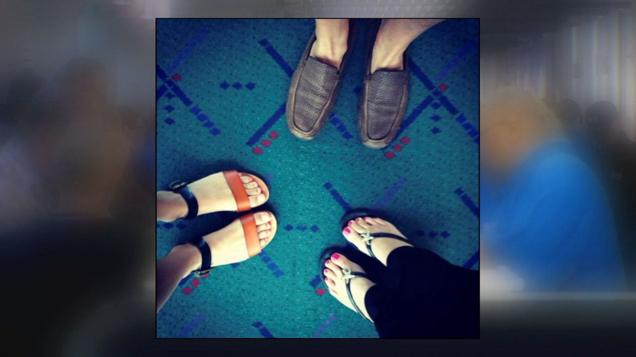 Portland in mourning over loss of 'classic' PDX airport carpet (KATU News photo)