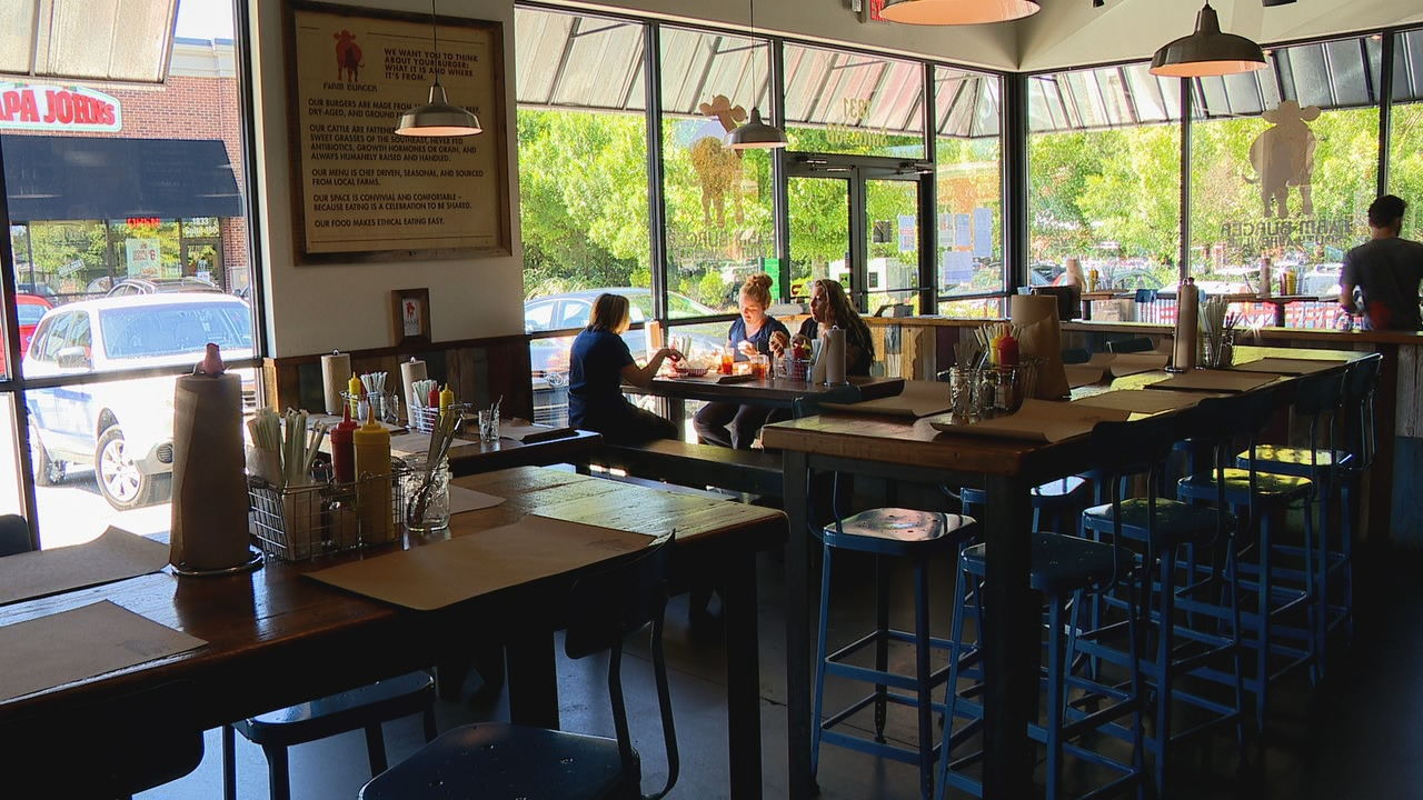 Farm Burger on Hendersonville Road will donate 10% of proceeds Thursday night to Hope Chest for Women. (Photo credit: WLOS staff)