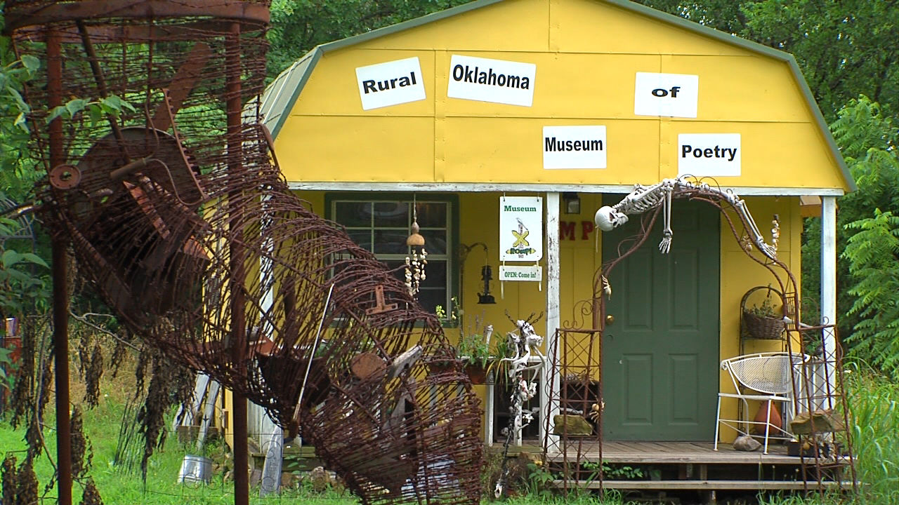 The Rural Oklahoma Museum of Poetry is located in Locust Grove. (Clemmer/KTUL)<p></p>