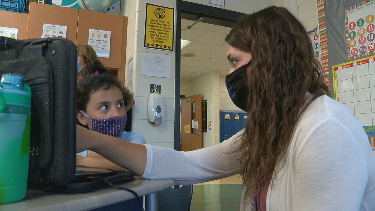 Engleman Elementary welcomed students back to school on August 13, 2020 (NTV News)