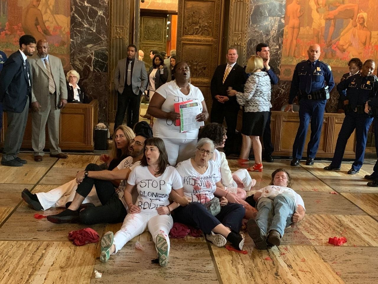 Protesters stage a 'die-in' over proposed abortion bill in Louisiana (Photo:{ }New Orleans Abortion Fund via Storyful)