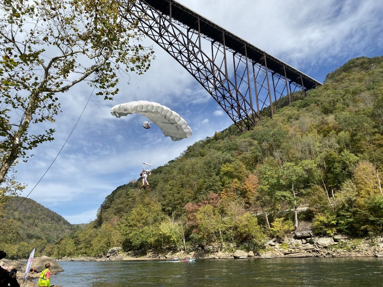Hundreds of daredevils plunged more than 870ft into the gorge. (WCHS/WVAH)