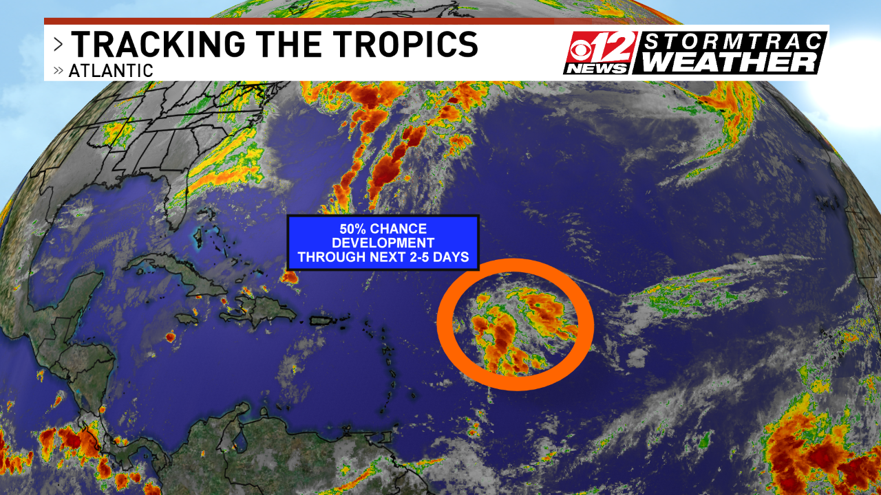 Monitoring an area in the Atlantic with a 50% chance of development. (WPEC).