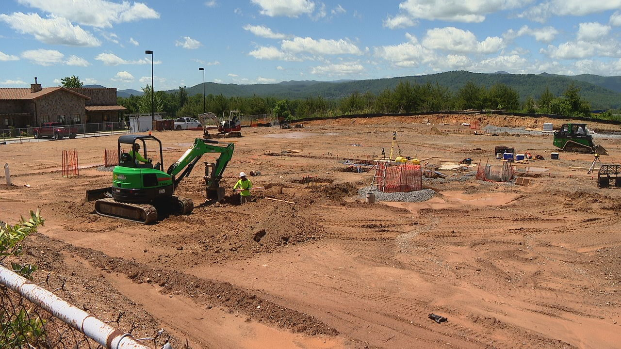 The city's Planning and Economic Development Committee on Thursday discussed plans to temporarily stop hotel construction. (Photo credit: WLOS staff)