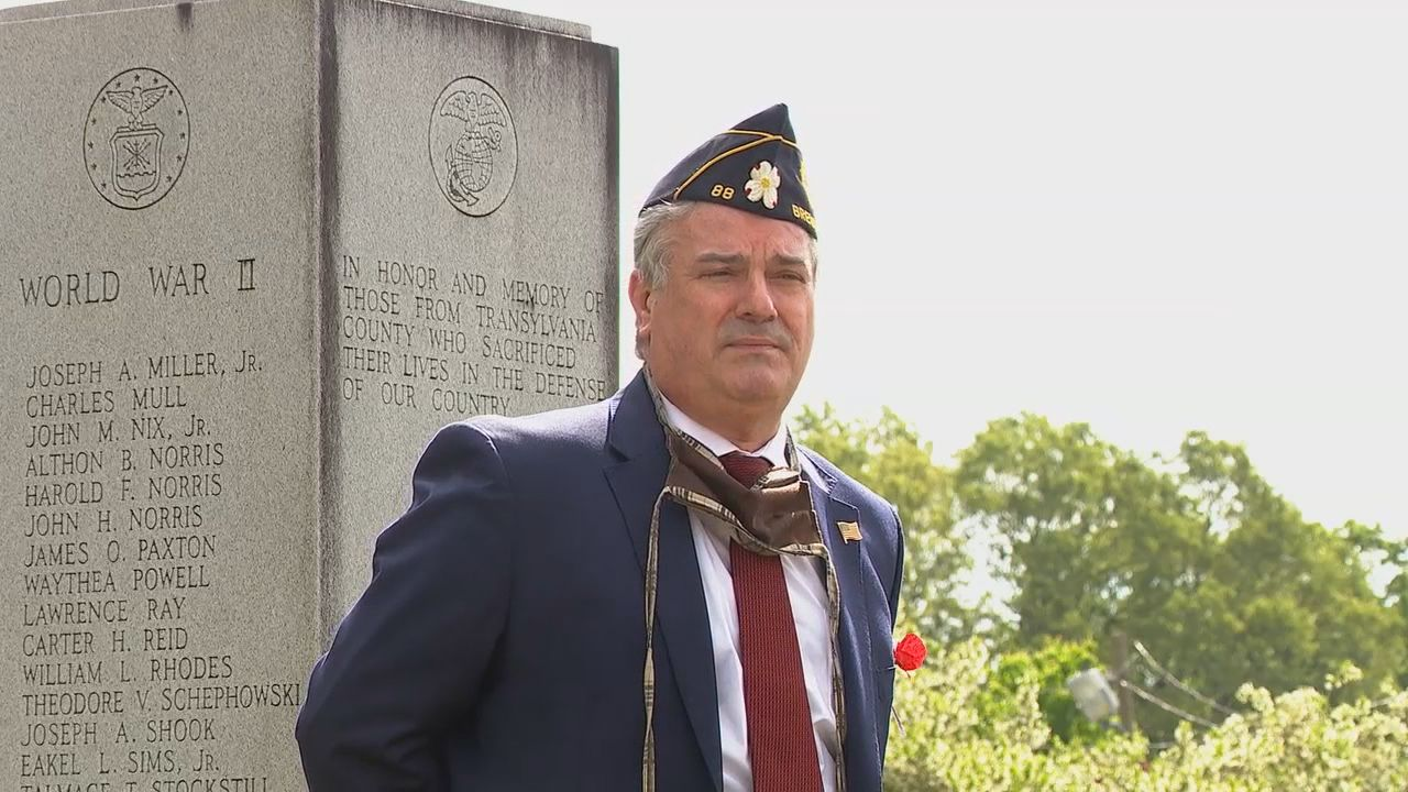 On May 23, the Blue Ridge Chapter of the Sons of the American Revolution honored those who gave their lives for their country. (Photo credit: WLOS Staff)